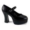 MARYJANE-50 Black Faux Leather